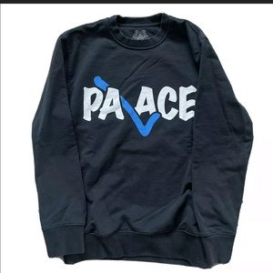 "Palace Skateboards ""Correct"" Black Crewneck"